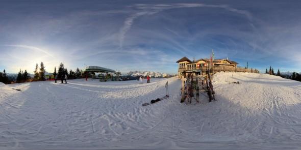 Vor der Hochwurzenhütte 2011, 360 Grad Panorama