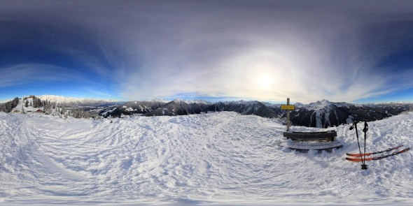 Auf dem kleinen Hochwurzen 2011, 360 Grad Panorama