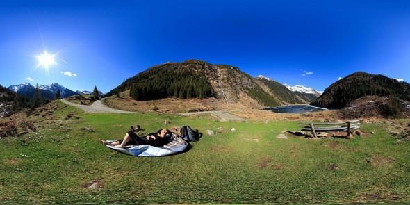 Ausrasten am Riesachsee 2011, 360 Grad Panorama