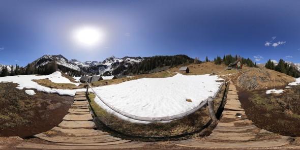 Zwischen Fahrlechhütte und Duisitzkarseehütte, 2011, 360 Grad Panorama