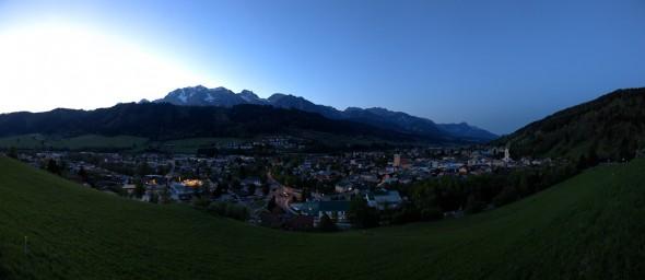 Sonnenuntergang, Schladming 2011, 360 Grad Panorama