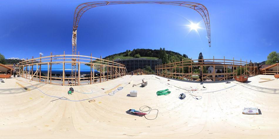 Tauernhof 2011, Chalet-Aufstockung, 360 Grad Panorama