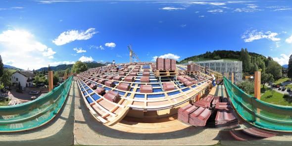 Tauernhof 2011: Das Dach ist gedeckt, Schladming, 360 Grad Panorama