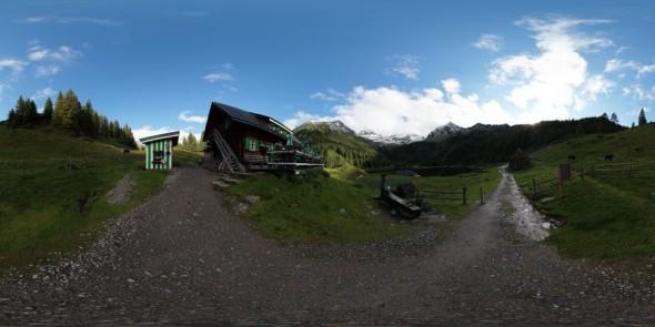 Vor der Duisitzkarseehütte 2011, 360 Grad Panorama