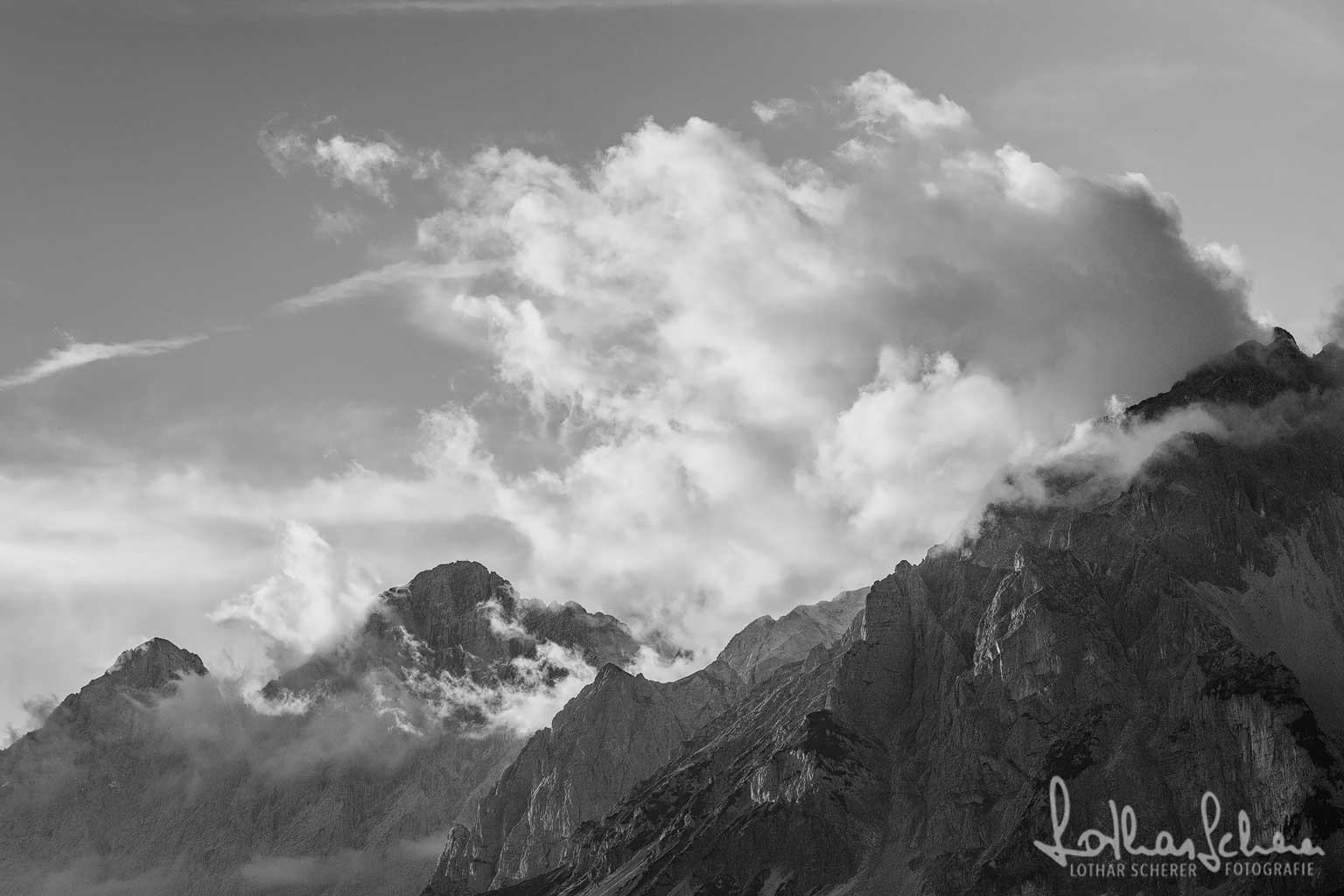 Wolkenstimmung am Dachstein