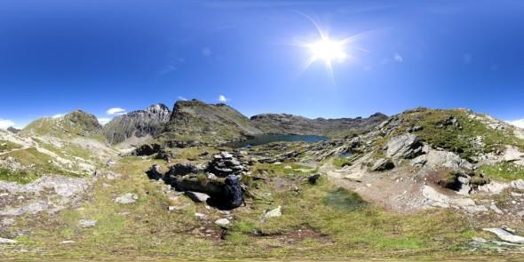 Wanderung über den Klafferkessel..., 360 Grad Panorama
