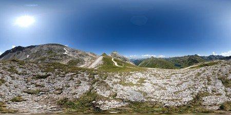 Auf der Akarscharte 2009, 360 Grad Panorama