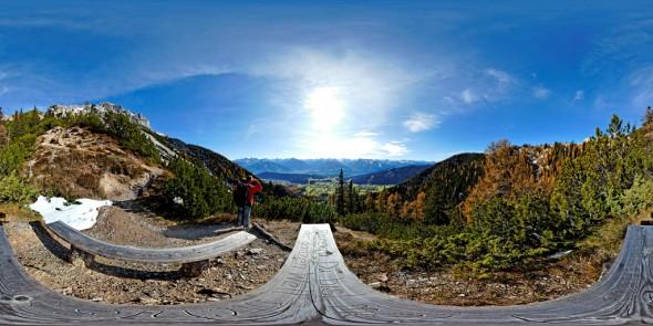 Auf dem Jungfrauensteig 2009, 360 Grad Panorama