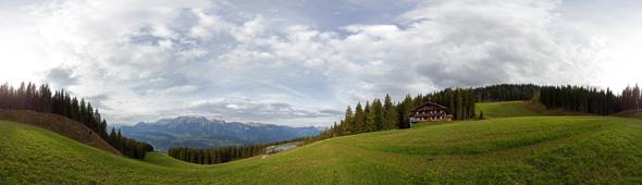 Planai, vor der Quellbodenhütte, 360 Grad Panorama