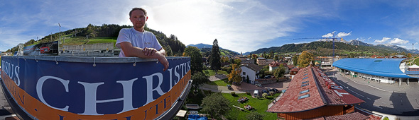 Tauernhof, Blick vom neuen Kletterturm, 360 Grad Panorama