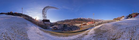 Auf der Planai, Schladming, 360 Grad Panorama