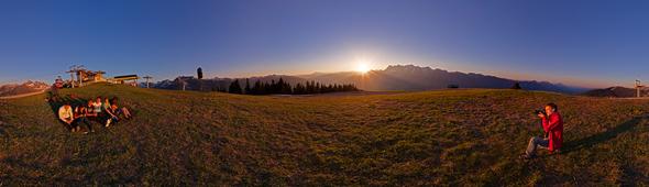 Sonnenuntergang auf der Planai