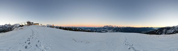 Sonnenaufgang auf der Planai.