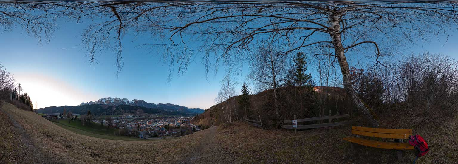 Schladming 2017, beim Rohrmooser Schlössl, 360 Grad Panoramen
