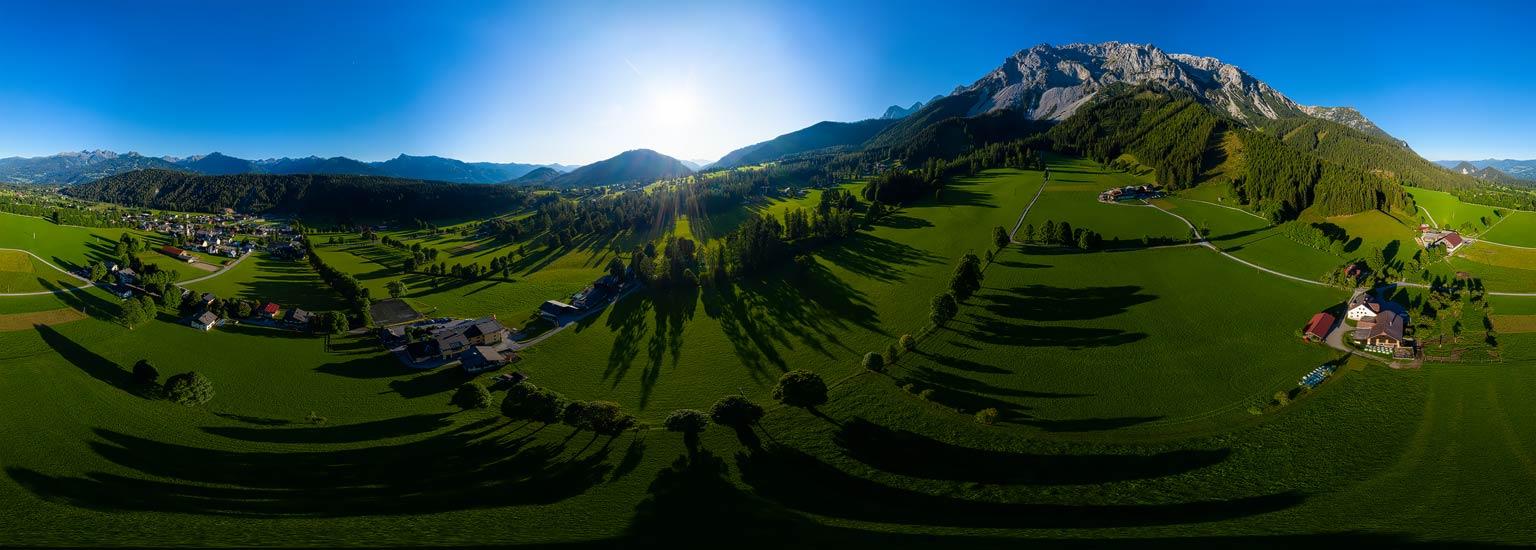 Ramsau am Dachstein, Luftpanorama, 360 Grad Panoramafotografie, Lothar Scherer, Schladming