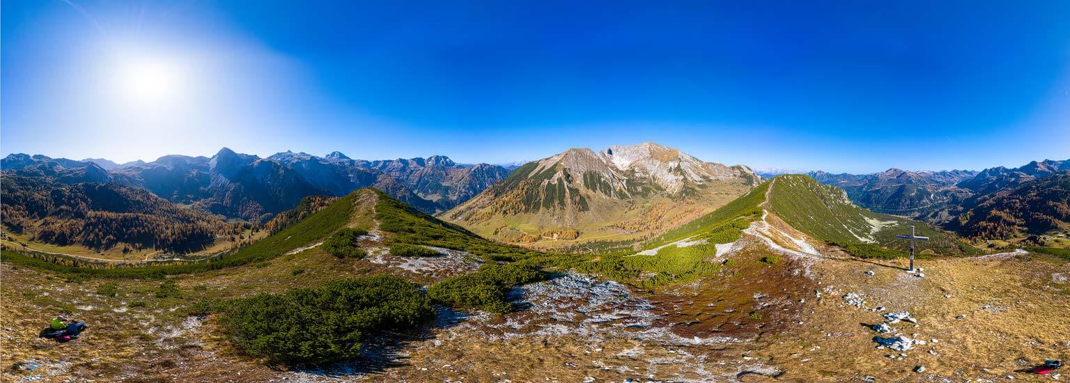 Obertauern, Auf dem Spirzinger (2066 m) bei der Südwiener Hütte