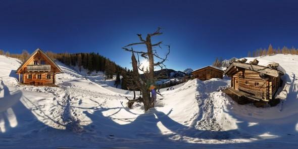 Auf der Brandalm-Hütte 2010, 360 Grad Panorama
